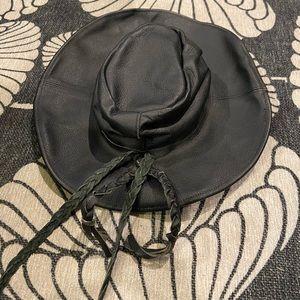 Genuine Leather black hat- S